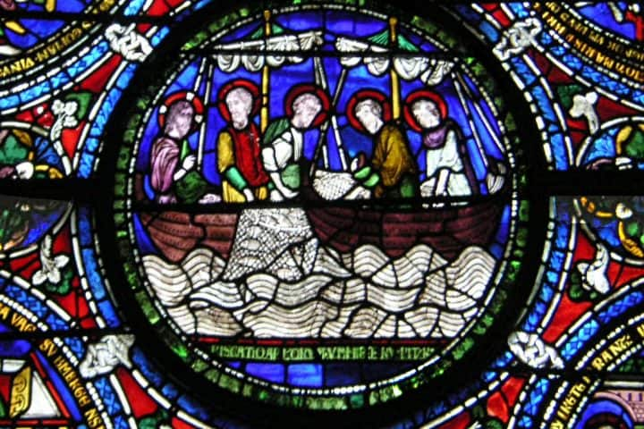 Canterbury Cathedral, the miraculous draft of fishes